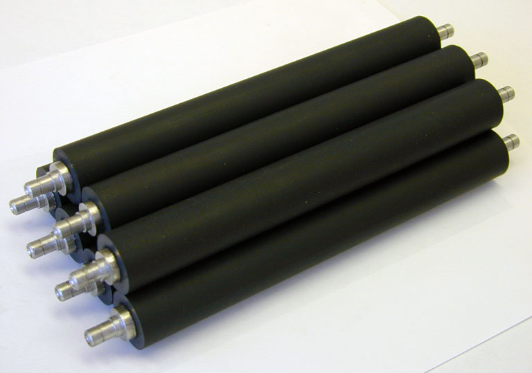 custom rubber covered rollers